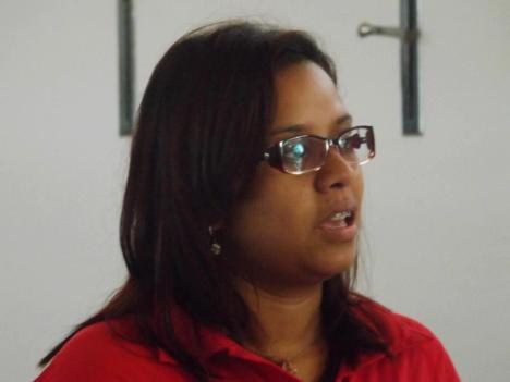 Érika Gomes apresentou os informes da Plenária Estadual e abriu os debates que resultaram na definição do apoio à candidatura do Emídio para Presidente Estadual do PT